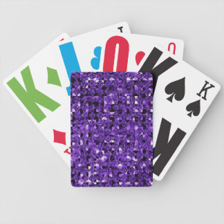 Purple Sequin Effect Card Decks