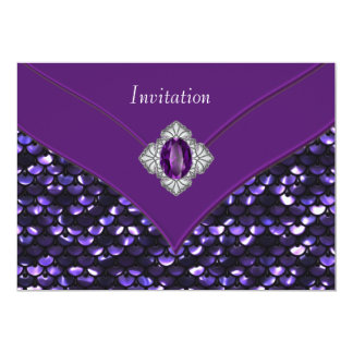 Purple Sequin Purple All Occasion Party Card