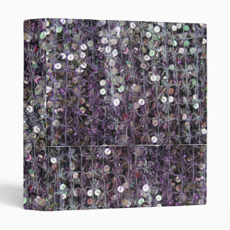 Purple Sequins and Beads 3 Ring Binder