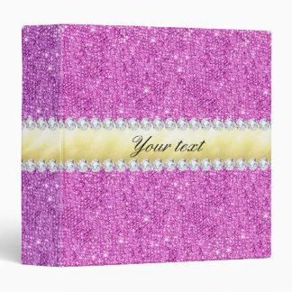 Purple Sequins Gold Foil and Diamonds Binder