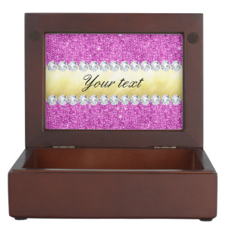 Purple Sequins Gold Foil and Diamonds Memory Box