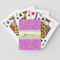 Purple Sequins Gold Foil and Diamonds Playing Cards