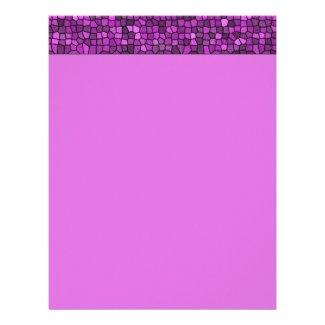 Purple Sequins Letterhead
