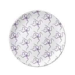 Purple Serpent Star Pattern Marine Life Dinner Plate