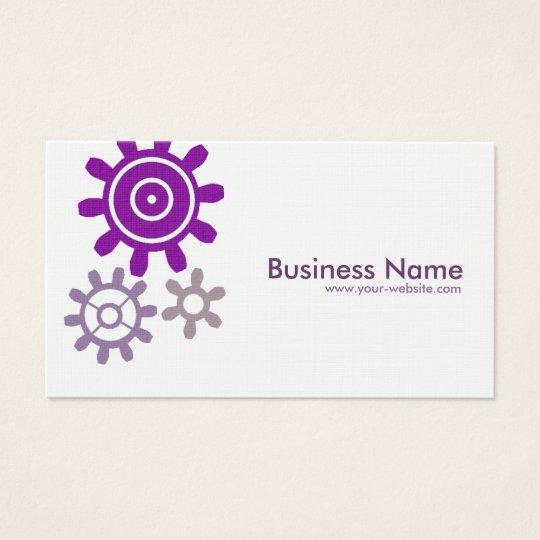 Purple Set of Gears Business Card