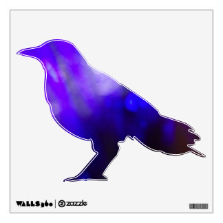 Purple Shade Crow Decal #1 © Roseanne Pears 2012.