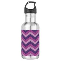 Purple Shadow Chevron Pattern Waterbottle Stainless Steel Water Bottle