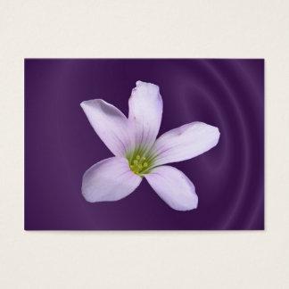 Purple Shamrock ~ ATC Business Card