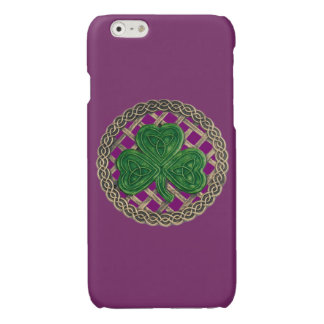 Purple Shamrock On Celtic Knots iPhone 6 Case