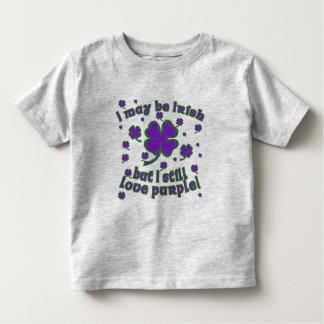 Purple Shamrock St. Patrick's Day Design Toddler T-shirt