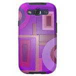 purple shapes pop art samsung galaxy s3 covers