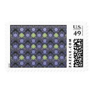 purple shapes Postage