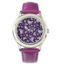 Purple shark pattern watch