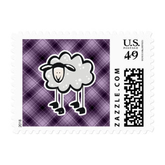 Purple Sheep Postage Stamps