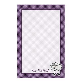 Purple Sheep Personalized Stationery