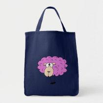 Purple sheep tote bag