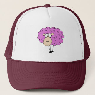 Purple sheep trucker hat