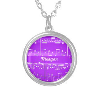 Purple Sheet Music Necklace