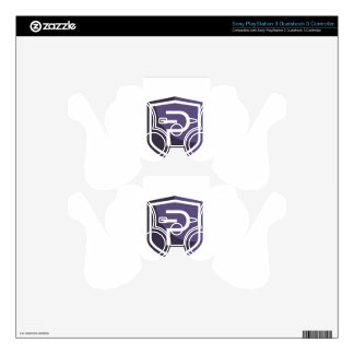 Purple Shield PIVX PS3 Controller Skin