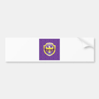 Purple Shield With Golden Eagle Vector Royal Icon Bumper Sticker