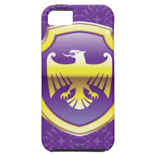 Purple Shield With Golden Eagle Vector Royal Icon iPhone SE/5/5s Case
