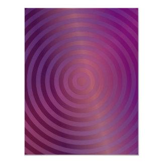 Purple shiny circles 4.25x5.5 paper invitation card