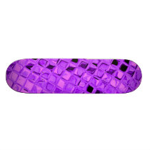 Purple Shiny Diamonds Sissy Girly Girl Skateboard