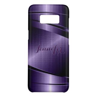 Purple Shiny Metallic Brushed Aluminum Look Case-Mate Samsung Galaxy S8 Case