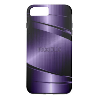 Purple Shiny Metallic Design iPhone 7 Plus Case