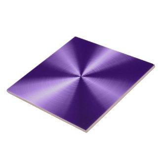 Purple Shiny Metallic Design Stainless Steel Look Tile