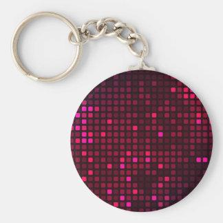 Purple shiny mosaic art keychain
