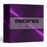 Purple Shiny Stainless Steel Metal Binder