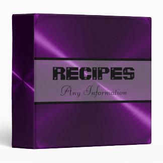 Purple Shiny Stainless Steel Metal Binders