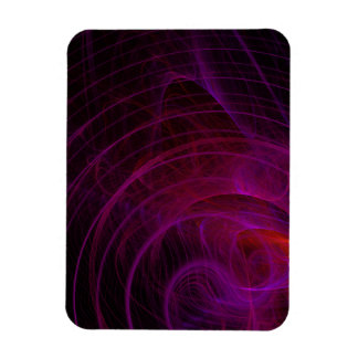 Purple Shock Wave Fractal Flame Rectangular Photo Magnet