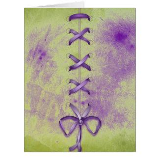 Purple Shoe Laces Card