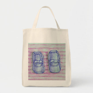 purple shoes tote bags
