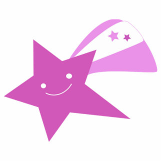 Purple Shooting Star Photo Cut Outs