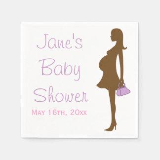 Purple Silhouette Baby Shower Napkins