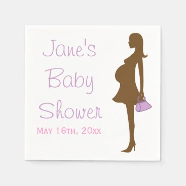 Toddler & Baby themed Purple Silhouette Baby Shower Napkins