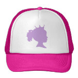 Purple Silhouette Princess T-shirts and Gifts Trucker Hat