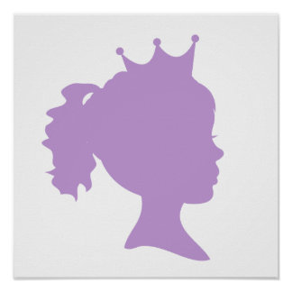 Purple Silhouette Princess T-shirts and Gifts Poster