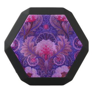 Purple Silk Embroidery Black Bluetooth Speaker