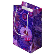 Purple Silk Embroidery Small Gift Bag