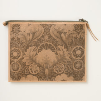 Purple Silk Embroidery Travel Pouch