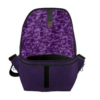 Purple Silk Messenger Bag
