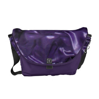 Purple Silk Messenger Bag