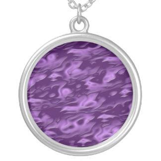 Purple Silk Necklace