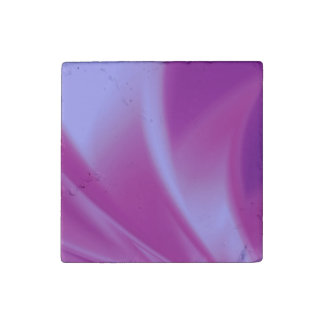 Purple Silks Stone Magnet