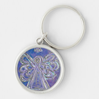 Purple Silver Angel Keychain