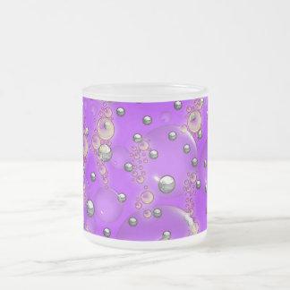 Purple Silver Balls Bubbles Mug